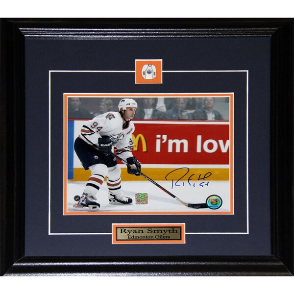 Ryan Smyth Edmonton Oilers Signed 8x10-inch Frame