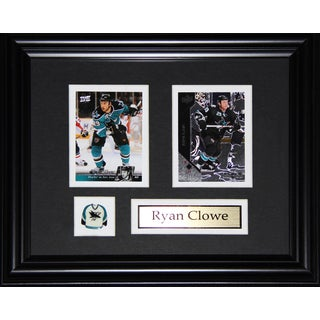 Ryan Clowe San Jose Sharkes 2-card Frame