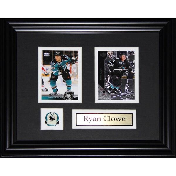Ryan Clowe San Jose Sharkes 2-card Frame