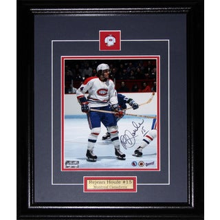 Rejean Houle Montreal Canadiens Signed 8x10-inch Frame