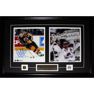 Ray Bourque Boston Bruins Colorado Avalanche Signed 2-photo Frame