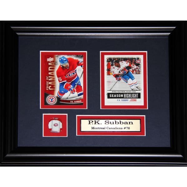 Pk Subban Montreal Canadiens 2-card Frame