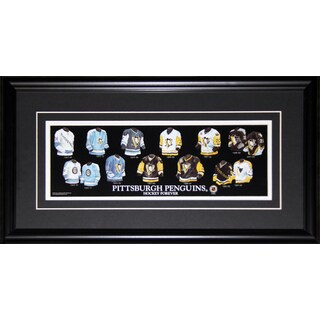 Pittsburgh Penguins Jersey Evolution Frame