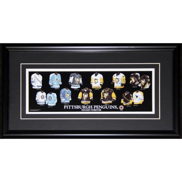 Pittsburgh Penguins Jersey Evolution Frame
