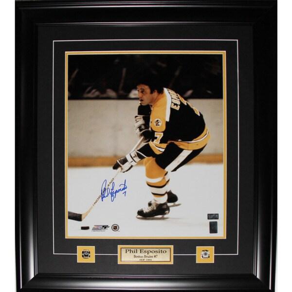 Phil Esposito Boston Bruins Signed 16x20-inch Frame