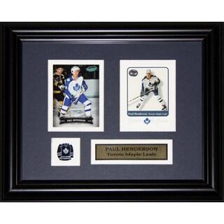 Paul Henderson Toronto Maple Leafs 2-card Frame
