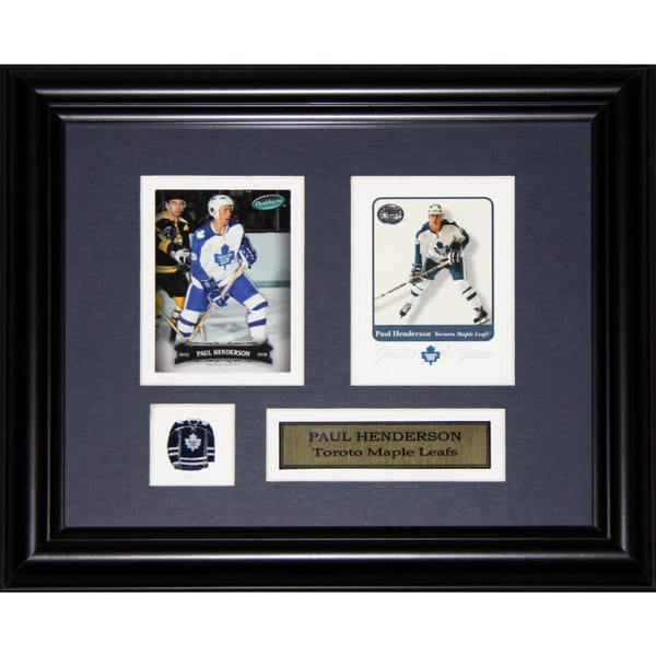 Paul Henderson Toronto Maple Leafs 2-card Frame