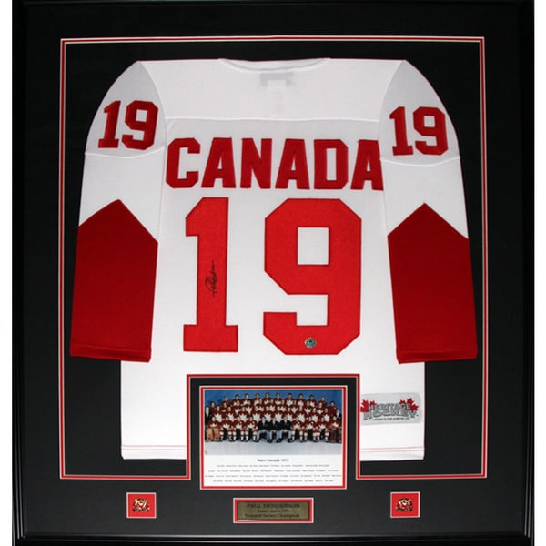 Paul Henderson Team Canada Signed Jersey Frame