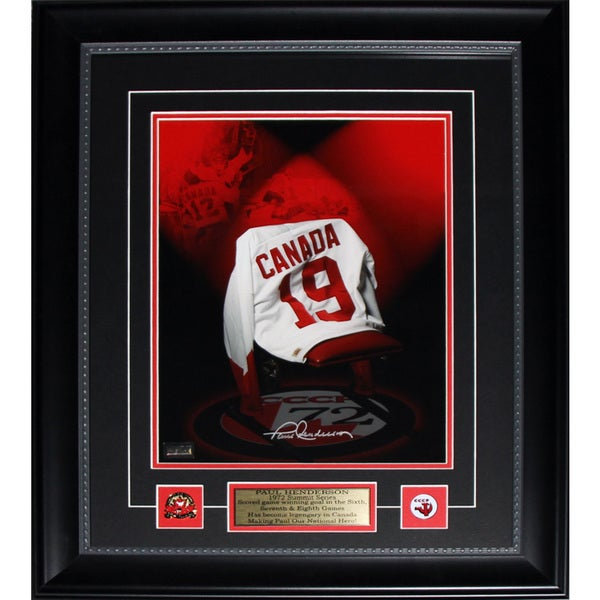 Paul Henderson Jersey Painting Signed 11x14 Frame