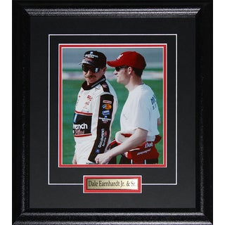 Dale Earnhardt Sr. and Jr. Nascar Racing 8x10-inch Frame