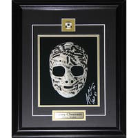 Gerry Cheevers Signed Mask 8x10-inch Photo Frame