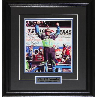 Carl Edwards Nascar Signed 8x10-inch Frame