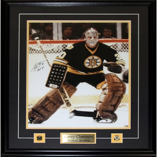 Gerry Cheevers Boston Bruins Signed 16x20-inch Frame
