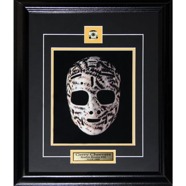 Gerry Cheevers Boston Bruins Goalie Mask 8x10-inch Frame