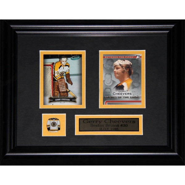 Gerry Cheevers Boston Bruins 2-card Frame
