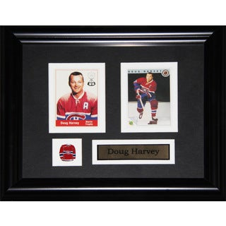 Doug Harvey Montreal Canadiens 2-card Frame
