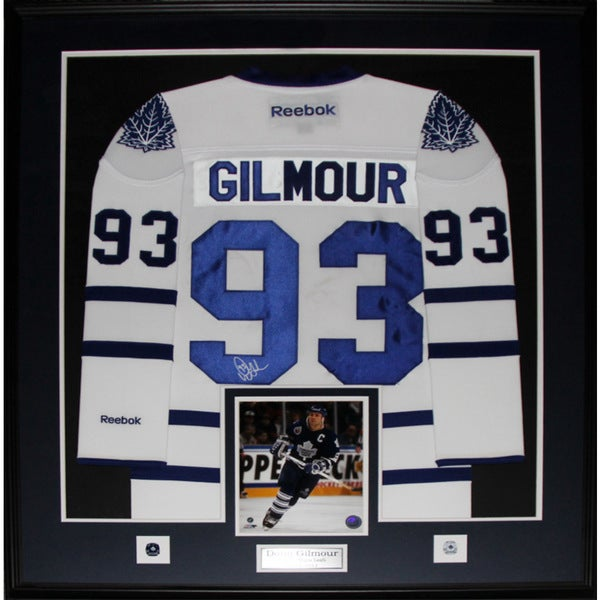 pretty nice 110d0 1cead Doug Gilmour Toronto Maple Leafs Signed White Jersey Frame
