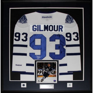 Doug Gilmour Toronto Maple Leafs Signed White Jersey Frame