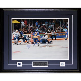 Doug Gilmour Toronto Maple Leafs Signed Overtime Goal 16x20-inch Frame