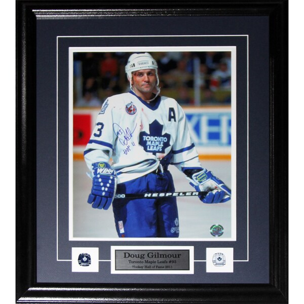 Doug Gilmour Toronto Maple Leafs Signed Bloody 11x14 Frame