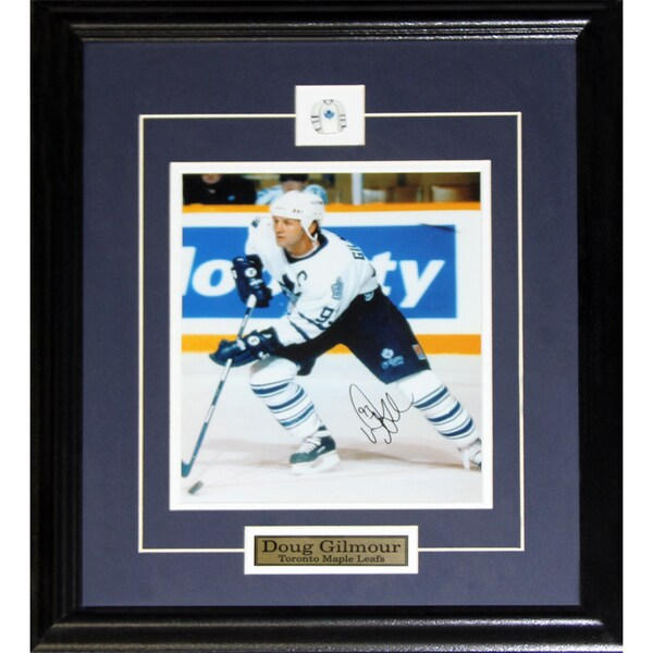 Doug Gilmour Toronto Maple Leafs Signed 8x10-inch Frame