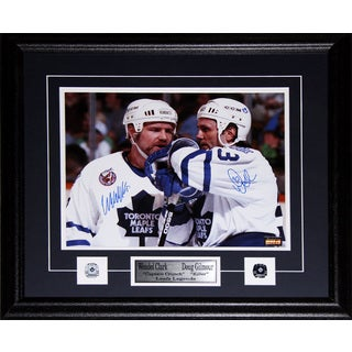 Doug Gilmour and Wendel Clark Toronto Maple Leafs Signed 11x14 Frame
