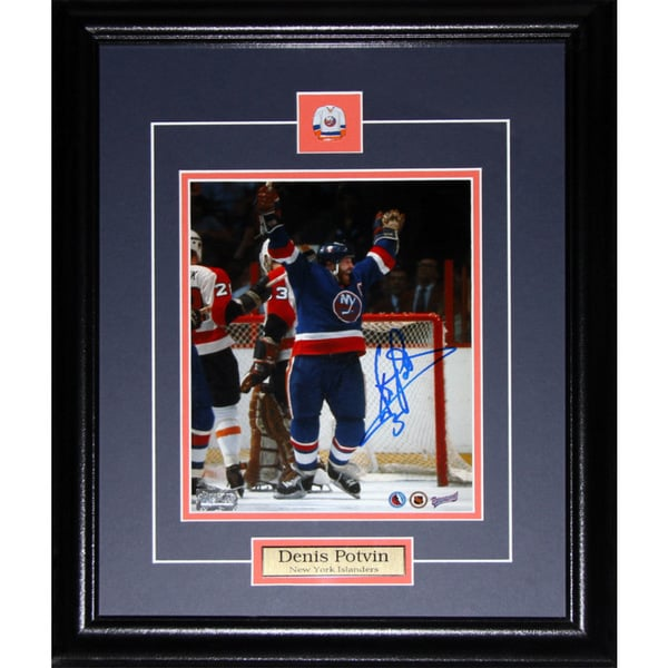 Denis Potvin New York Islanders Signed 8x10-inch Frame