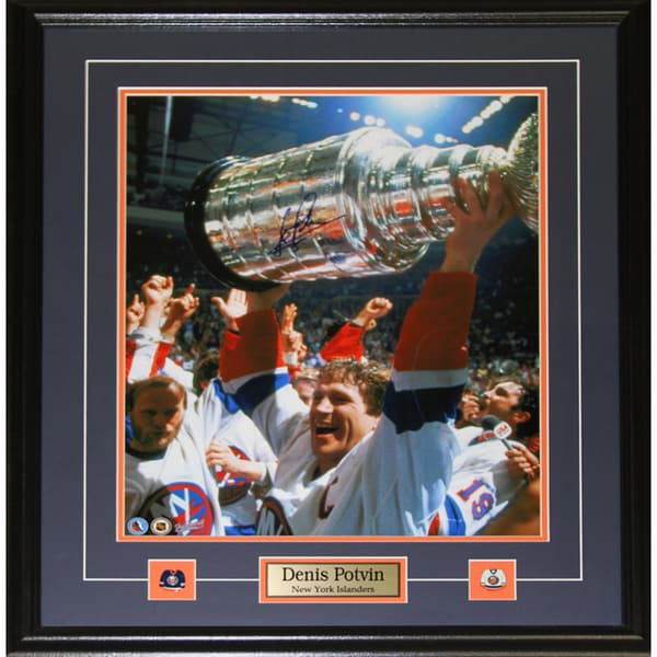 Denis Potvin New York Islanders Signed 16x20-inch Frame