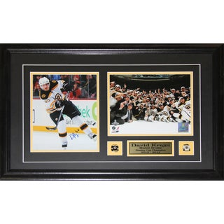 David Krejci Boston Bruins Signed 2-photo Frame