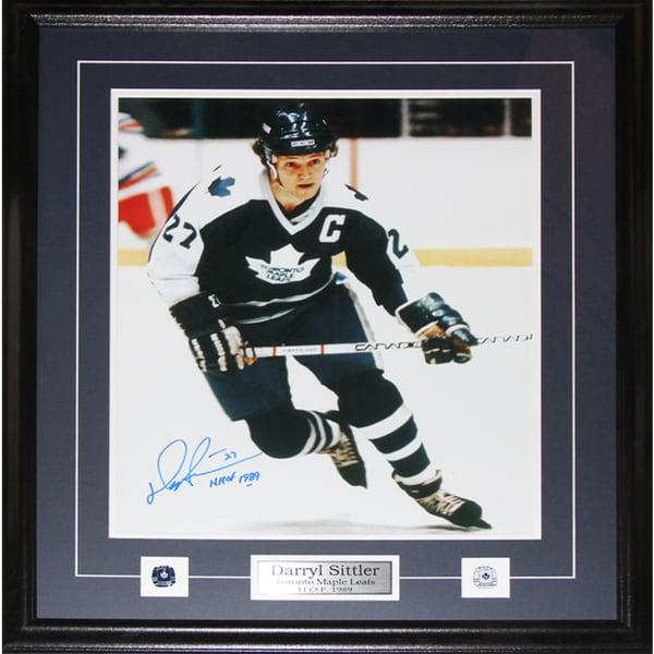 Darryl Sittler Toronto Maple Leafs Signed 16x20-inch Frame