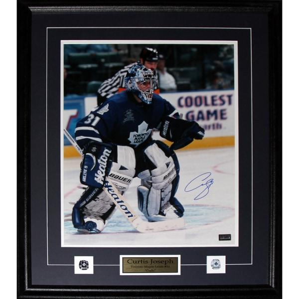 Curtis Joseph Toronto Maple Leafs Signed 16x20-inch Frame