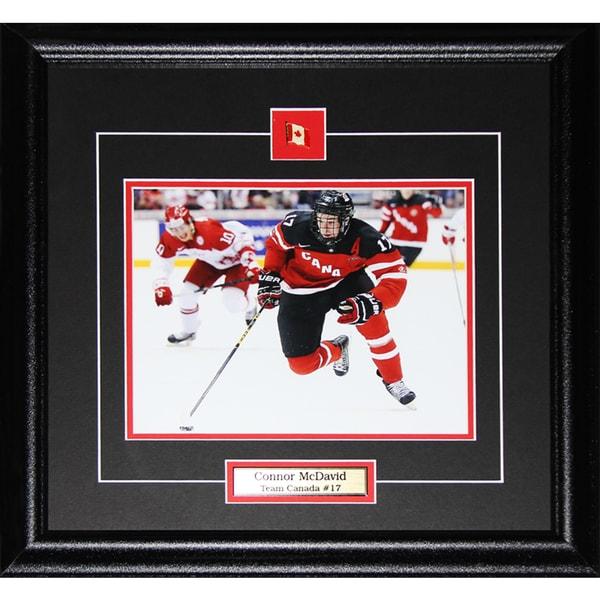 Connor Mcdavid Team Canada Juniors 8x10-inch Frame