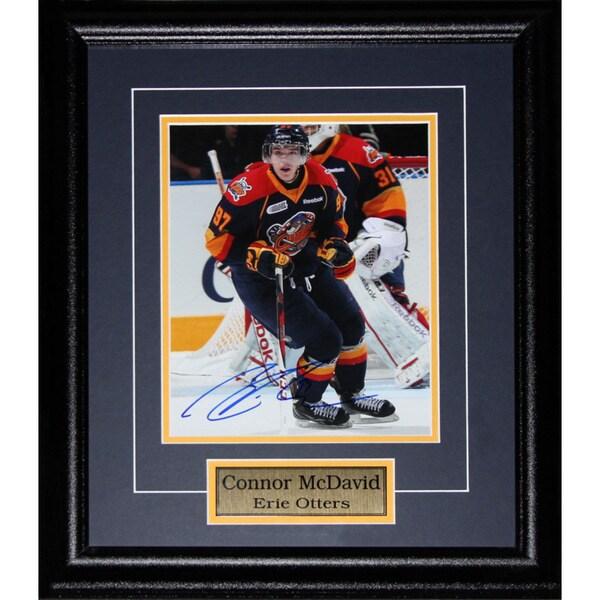 meet b265d e4b21 Connor Mcdavid Erie Otters Signed 8x10-inch Frame