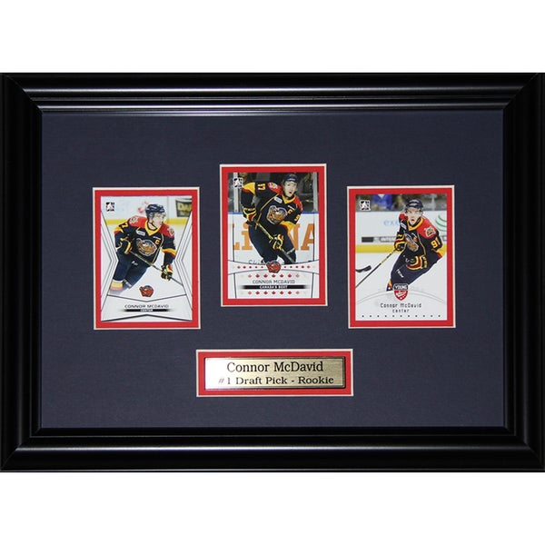 Connor Mcdavid Erie Otters 3 Card Frame