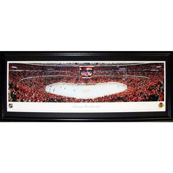Chicago Blackhawks United Center Panorama Frame