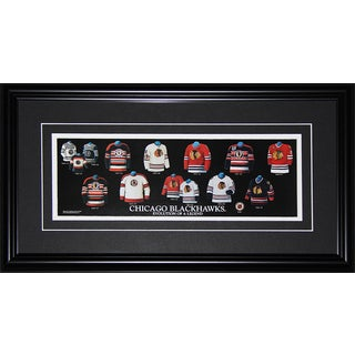 Chicago Blackhawks Jersey Evolution Frame