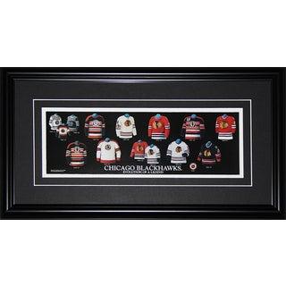 Chicago Blackhawks Jersey Evolution Frame