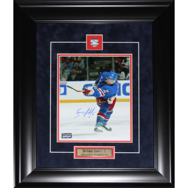 Brian Leetch New York Rangers Signed 8x10-inch Frame