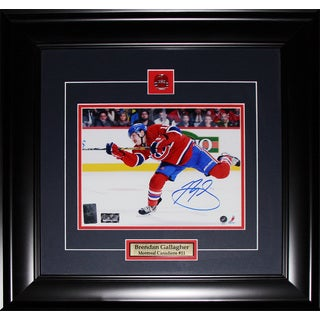 Brendan Gallagher Montreal Canadiens Signed 8x10-inch Frame