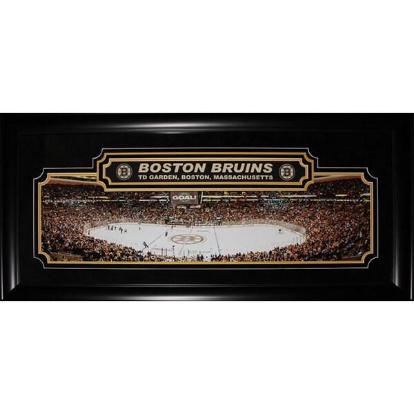 Boston Bruins Td Garden Panorama Deluxe Frame