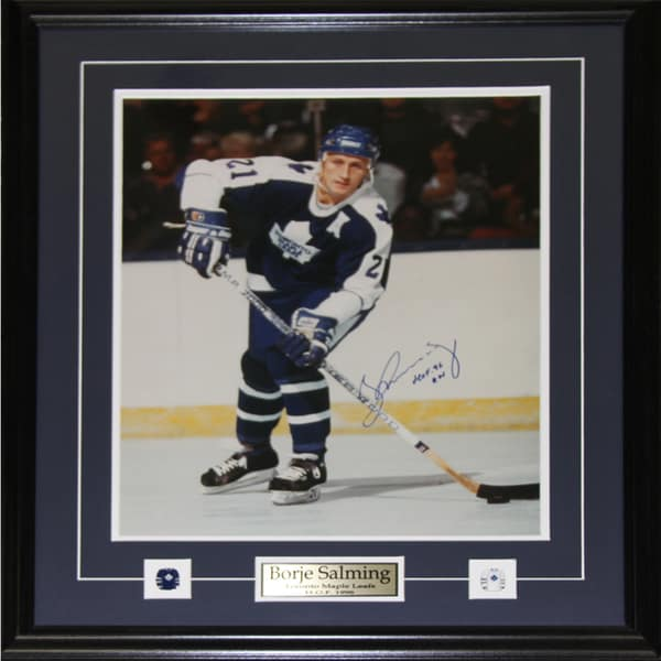 Borje Salming Toronto Maple Leafs Signed 16x20-inch Frame