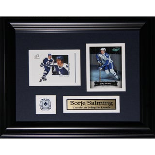 Borje Salming Toronto Maple Leafs 2-card Frame