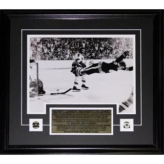 Bobby Orr The Goal Black and White 11x14 Frame