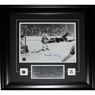Bobby Orr Overtime Goal Black and White 11x14 Signed Frame