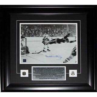 Bobby Orr Overtime Goal Black and White 11x14 Signed Frame