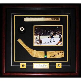 Bobby Orr Boston Bruins Signed Blade 8x10-inch Stick Frame