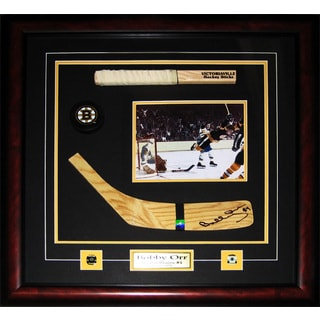 Bobby Orr Boston Bruins Signed Blade 8x10-inch Stick Frame