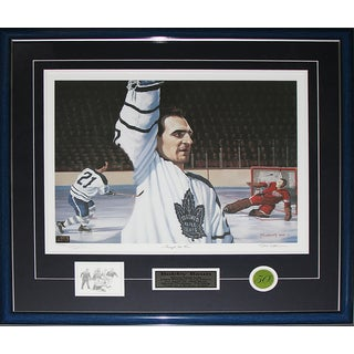 Bobby Baun Toronto Maple Leafs Broken Ankle Goal Signed Painting Frame