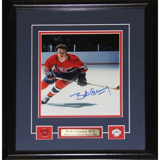 Bob Gainey Montreal Canadiens Signed 8x10-inch Frame