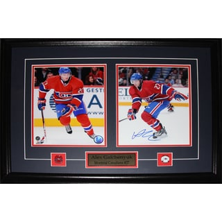 Alex Galchenyuk Montreal Canadiens Signed 2-photo Frame